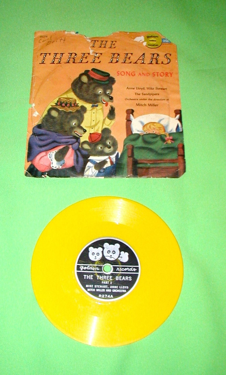 The Three Bears vintage song and story record