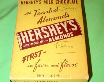 Hershey's Milk Chocolate with Almonds vintage store display box candy store