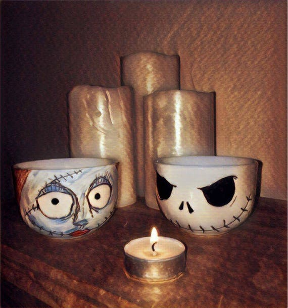 Nightmare Before Christmas Gifts Uk: Nightmare Before Christmas Tea Cups-Jack & Sally Cups