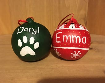 Personalised Baubles-Handpainted Pet bauble-Characters