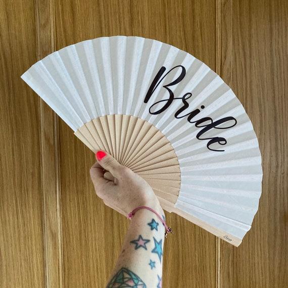 BRIDE Wooden/ Fabric Spanish Folding Hand Fan