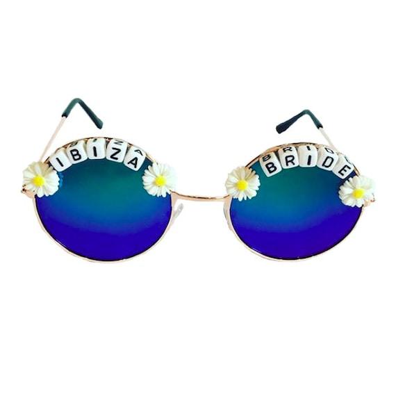 IBIZA <3 BRIDE Round Mirror Festival Sunglasses - Custom Designs Available
