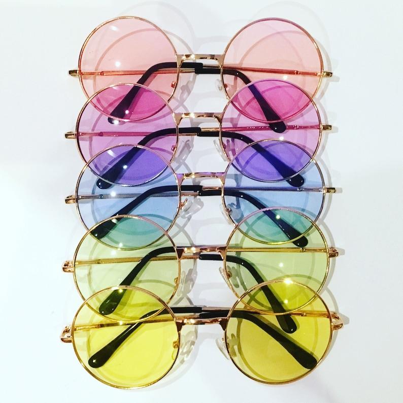 KETTY 3 KITTY Round Colour Festival Sunglasses Custom Designs Available