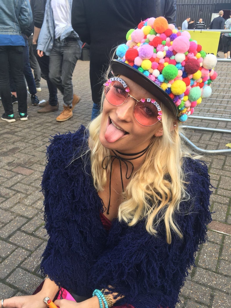 2a2c1376cb TECHNO 3 T REX Round Colour Tint Festival Sunglasses | Etsy