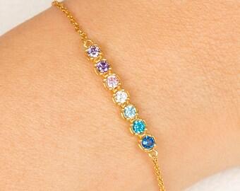 Bracelet, Bracelet For Her, Birthstone Bracelet for Women, Mothers Day Bracelet,Mothers Birthstone Bracelet, Personalized Jewelry For Mom