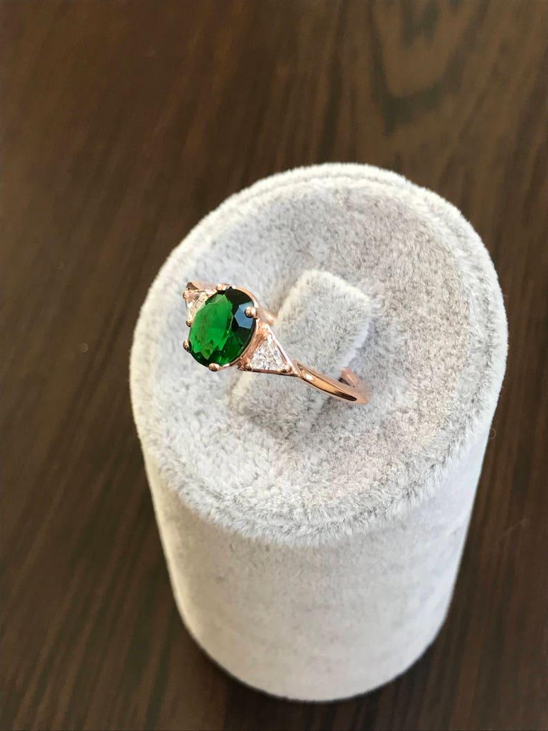 Solitiare Emerald Ring Personalized Solitiare Ring Solitaire Ring Solitiare Engagement Ring Rings Solitiare Triangle Ring