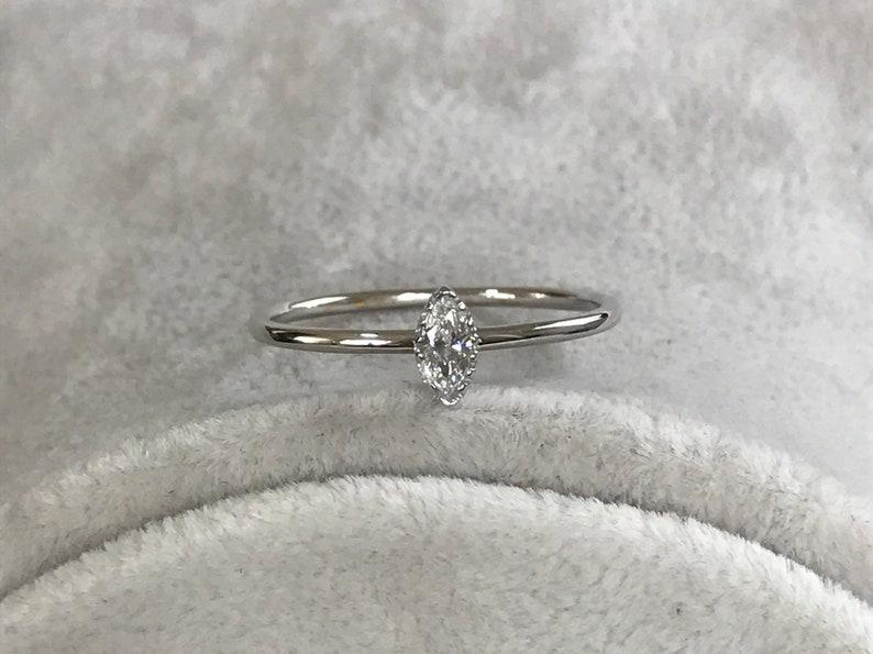 Stackable Gold Ring For Her 14k Marquise Promise Ring Christmas Gift Ring Gold 14k White Gold Diamond Ring For Women/'s
