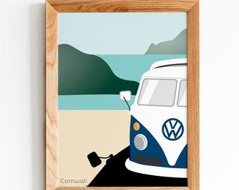 VW Volkswagen Camper van personalised ribbon for cakes gifts etc 45mm width