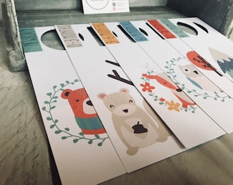 Pack of 6 - Woodland Creatures Design - Wardrobe or Closet Dividers for Nursery and Baby