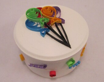 Balloon All-Paper Quilled Box  - Handmade
