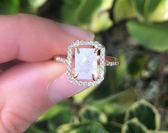 Moonstone Ring, Rainbow Moonstone Ring for Her, June Birthstone Ring, Silver Moonstone Ring, Gemini Jewelry, Moonstone Jewelry, Quartz Ring