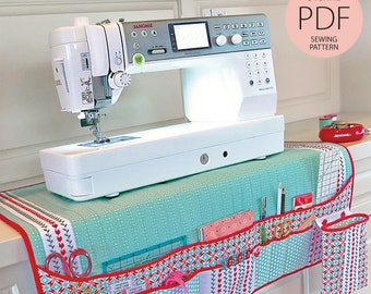Quilted Sewing Machine Mat & Notions Caddy Digital PDF Sewing Pattern