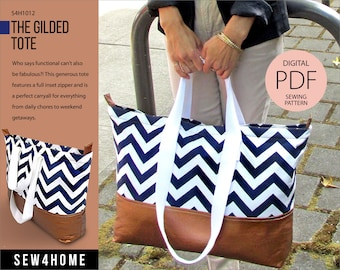 The Gilded Tote Digital PDF Sewing Pattern