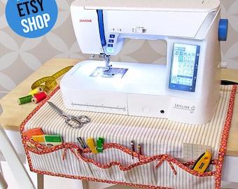 Apron Style Sewing Machine Mat + Organizer PDF Sewing Pattern