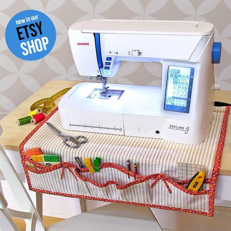 Apron Style Sewing Machine Mat  Organizer PDF Sewing Pattern image 0