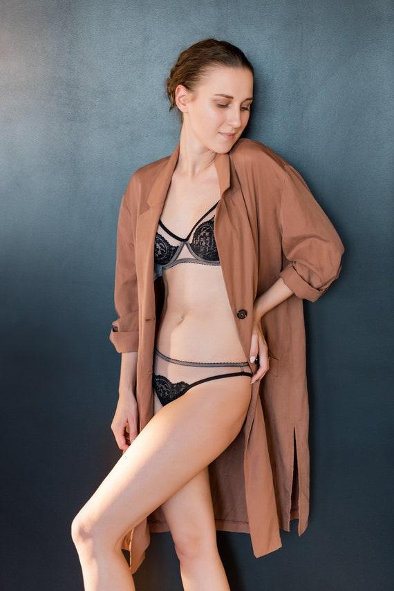 Regalo Transparente Ver sexy través lencería negra Desnudo Esposa Encaje de para a novia 3Rj5Lq4A