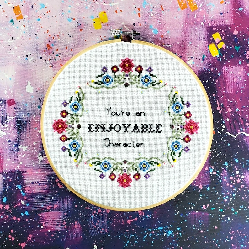 You are an Enjoyable Character Cross Stitch Kit