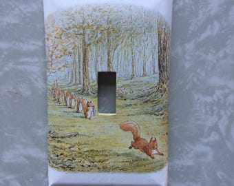 Tale Of Squirrel Nutkin Beatrix Potter Nursery Kids Room Decorative Light Switch Cover