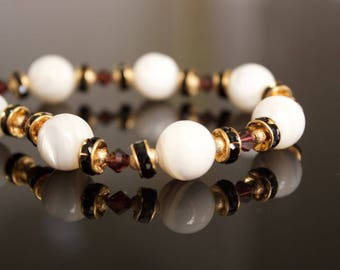 Mother of Pearl Beaded Bracelet