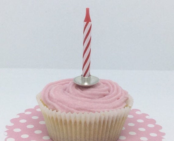 Phenomenal Sterling Silver Birthday Candle Holder Cake Decoration For Etsy Personalised Birthday Cards Arneslily Jamesorg