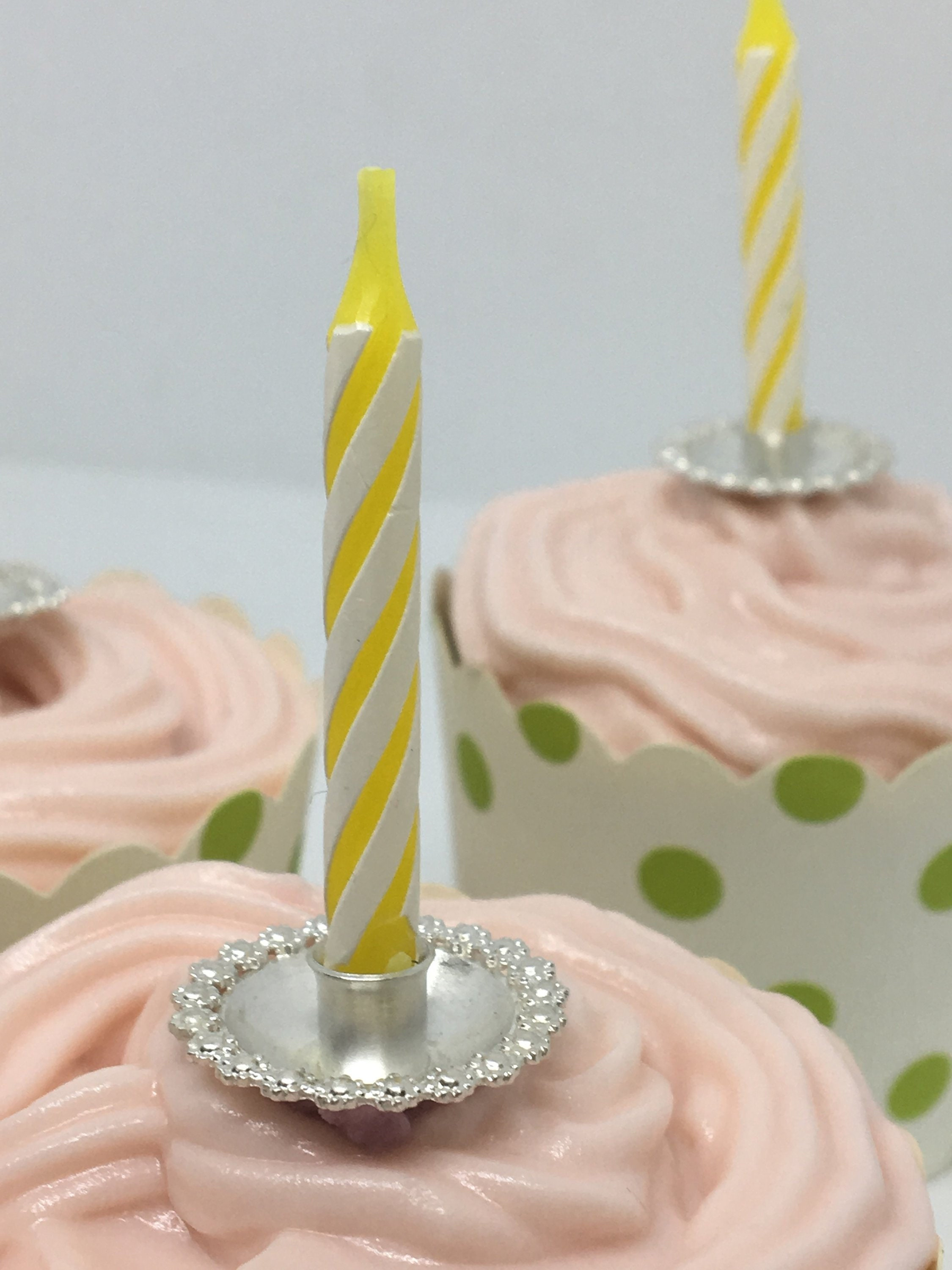 Birthday Candle Holder In Sterling Silver Cake Decoration For