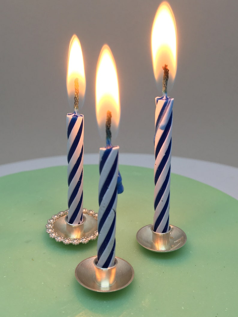 Birthday Candle Holder Silver For Cake Wedding Or