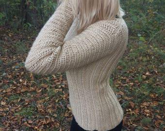 Cream Hand Crocheted Sweater