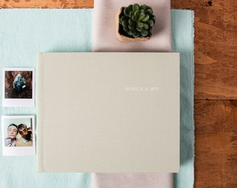 Spring Green Wedding Guest Book and Photo Album