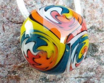 Hollow glass pendant