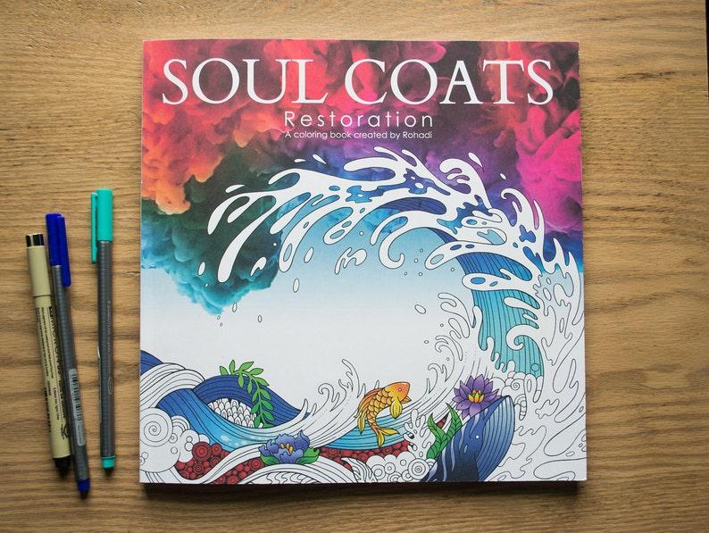 Soul Coats: Restoration  Inspirational Adult Coloring Book image 0