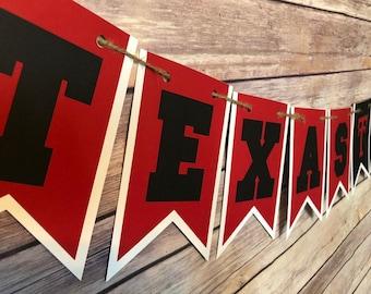 21d7e21c3c64 Texas Tech Banner, Tech banner, wreck em banner, red raider banner, dorm  banner, college banner, graduation banner, grad banner, texas tech