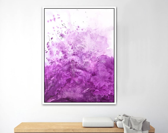 Water & Salt Pink - Framed Giclee Print