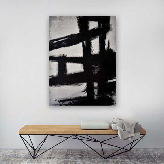 """Abstract Concrete No. 3 - Black Kline"""