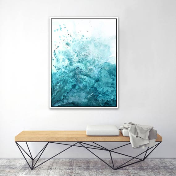 Water & Salt Teal - Framed Giclee Print