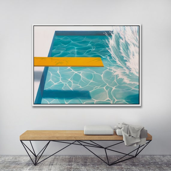 Abstract Splash Framed Print