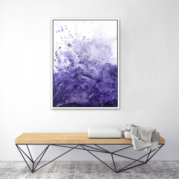 Purple watercolor framed print, blue, watercolor art, watercolor canvas, watercolor, watercolor, watercolor framed print, framed print
