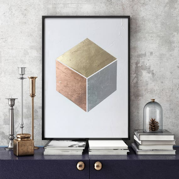 Gilded Cube No. 1