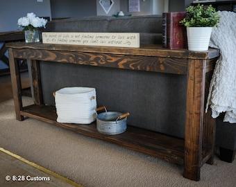 Handmade custom sofa table