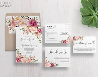 Wedding invitation kits etsy au junglespirit Images