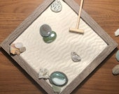 Mini zen garden kit wood grain