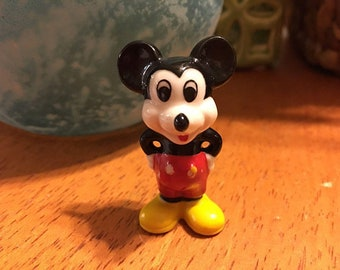 Walt Disney Mickey Mouse Vintage Figurine Made In Taiwan