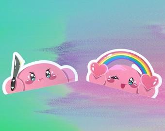 Kirby Peeker Stickers