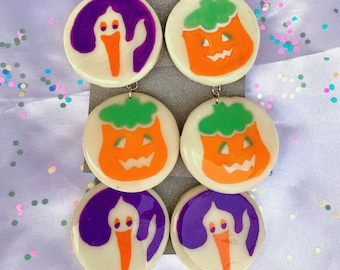 Halloween Pillsbury Cookie Inspired Earrings/Pin