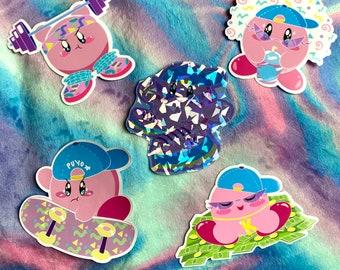 Retro Kirby Stickers