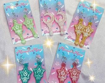 Sailor Moon Scouts Scepter Earrings