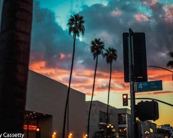 Santa Monica Sunset Print