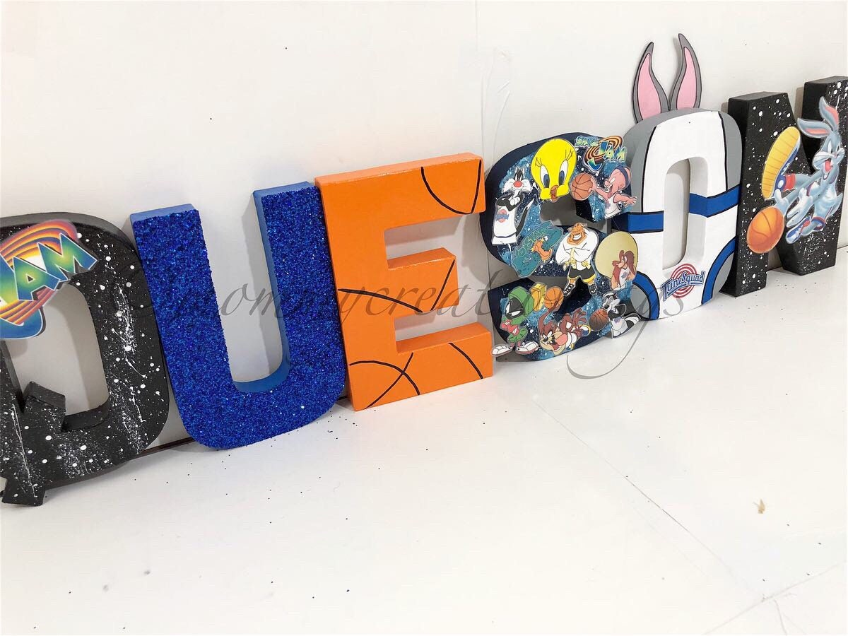 SPACE JAM PARTY/Space jam letters/ space jam decorations/