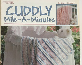 Leisure Arts Cuddly Mile A Minutes 6 Baby Afghans Crochet By Katherine Satterfield