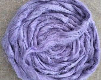 Purple Lilac Dyed Flax Roving Vegan Fiber 100 gr Spin Flora plant fibre cellulose top  sliver paper doll hair handspinning Free Shipping