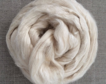Natural Mint Infused Cellulose Vegan Doll Hair Fiber 100 gr Spin Flora plant fibre top needle felting hand spinning Free Shipping
